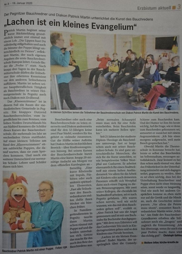Bericht vom Heinrichsblatt - Bamberger Kirchenzeitung